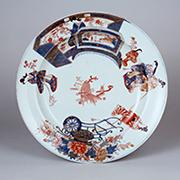 色絵風俗絵図平鉢